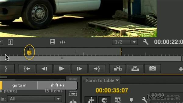 Mark in and out points: Premiere Pro Guru: Essential Keyboard Shortcuts
