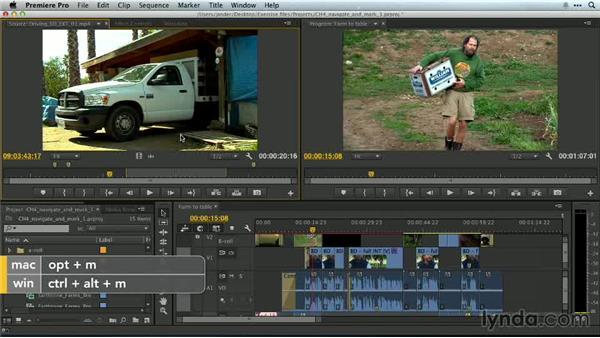Navigating and editing markers: Premiere Pro Guru: Essential Keyboard Shortcuts