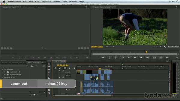 Zooming on the Timeline: Premiere Pro Guru: Essential Keyboard Shortcuts