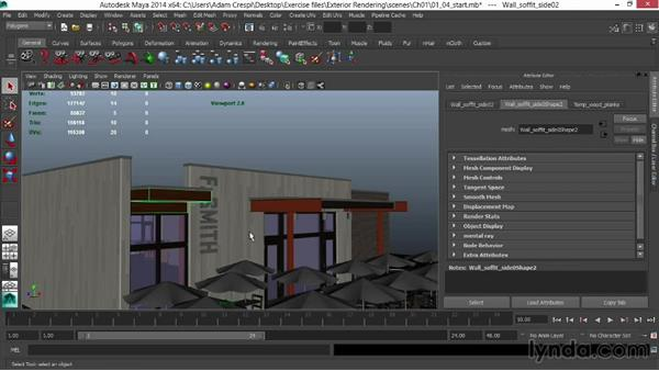 Adding subtle detail to wood and siding: Rendering Exteriors in Maya
