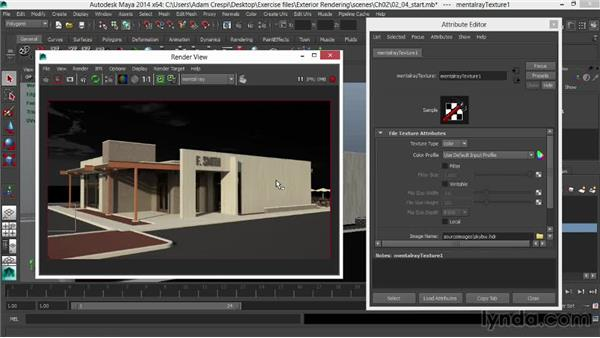 Lighting using HDR imagery in the Daylight system: Rendering Exteriors in Maya