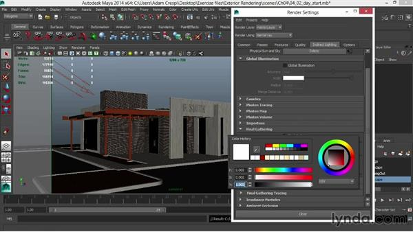 Fine-tuning Final Gather for speed: Rendering Exteriors in Maya