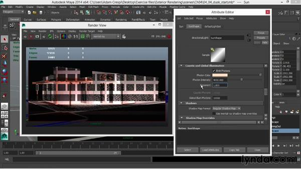 Stylizing the bounced lighting: Rendering Exteriors in Maya