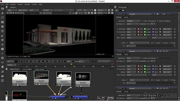 Setting blending modes and adjusting opacity: Rendering Exteriors in Maya