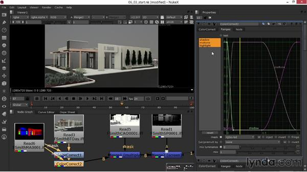Fine-tuning color using rendered masks: Rendering Exteriors in Maya