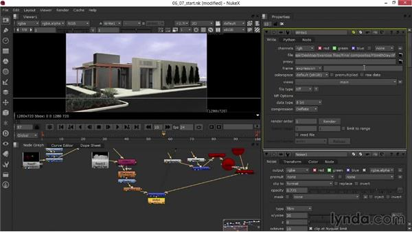 Rendering the composited images: Rendering Exteriors in Maya