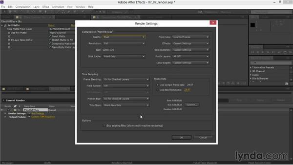 Rendering the composited animation: Rendering Exteriors in Maya