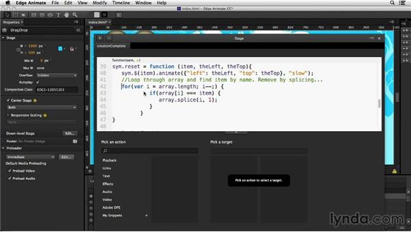 Testing: Creating Drag-and-Drop Functionality with Edge Animate