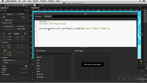 Adding functionality for mobile: Creating Drag-and-Drop Functionality with Edge Animate