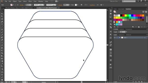 328 Drawing a Möbius strip in Illustrator: Deke's Techniques