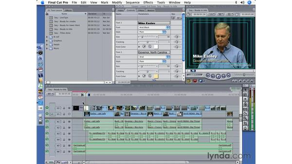 Creating a Lower Third: Final Cut Pro 5 Essential Effects