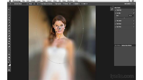 Changing focus with the Blur Gallery (CC 2014): Photoshop CC for Photographers: Intermediate