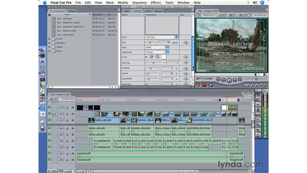 Creating a Credit Roll: Final Cut Pro 5 Essential Effects