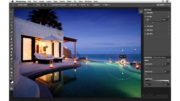 Applying multiple focus areas (CC 2014): Photoshop CC for Photographers: Intermediate