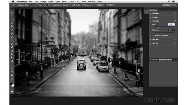 Becoming more advanced with Tilt-Shift Blur (CC 2014): Photoshop CC for Photographers: Intermediate