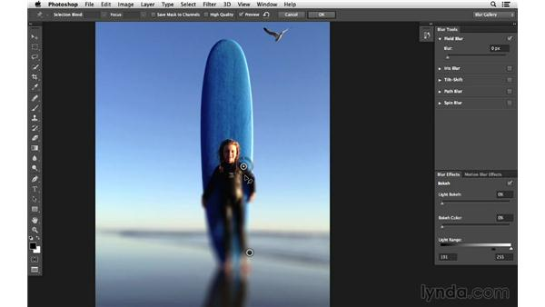 Creating a specialized effect with Field Blur (CC 2014): Photoshop CC for Photographers: Intermediate