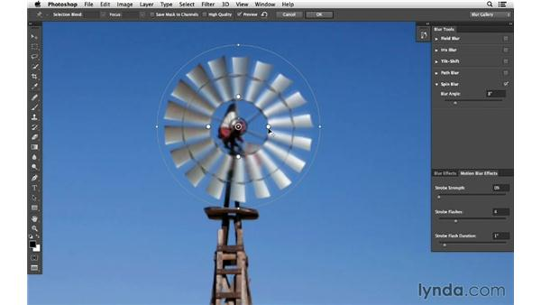 Adding spin motion with Spin Blur (CC 2014): Photoshop CC for Photographers: Intermediate