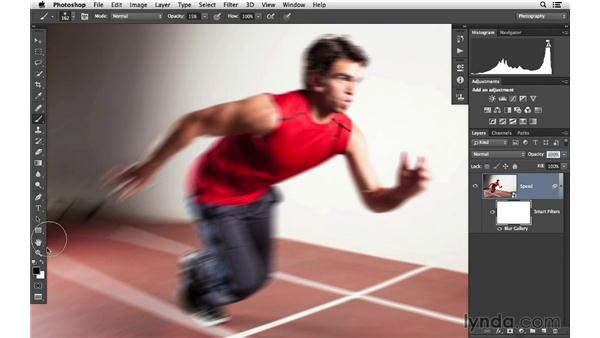 Adding speed motion with Path Blur (CC 2014): Photoshop CC for Photographers: Intermediate