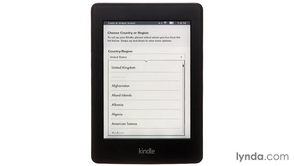 Setting up a Kindle and creating an Amazon account: Up and Running with Kindle