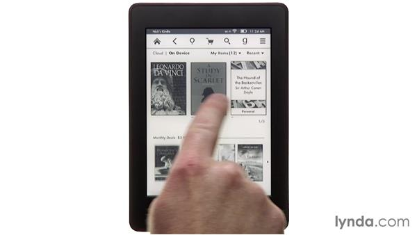 Removing and deleting books: Up and Running with Kindle