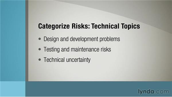 Categorizing and consolidating risks: Managing Project Risk