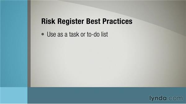 Building a risk register: Managing Project Risk