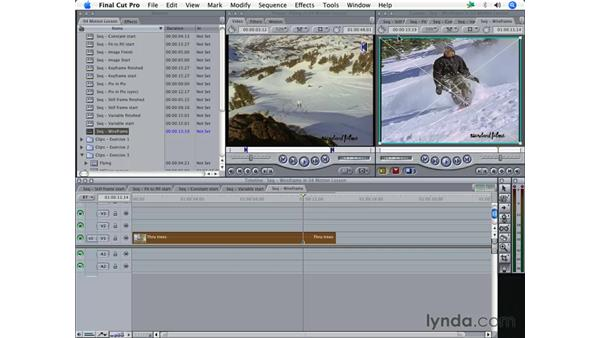 Using Image/Wireframe mode in the Canvas: Final Cut Pro 5 Essential Effects