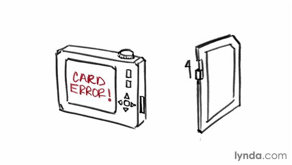 The card is accidentally locked: Recovering Photos from Memory Cards