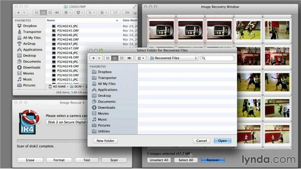 Recovering photos using a Mac computer: Recovering Photos from Memory Cards