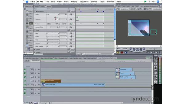 Creating more complex movies with Keyframes: Final Cut Pro 5 Essential Effects