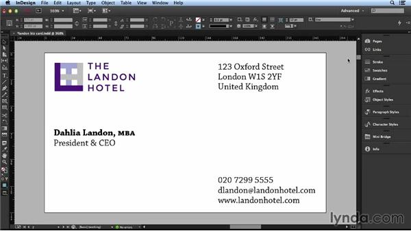 Arranging elements: Layout and Composition with InDesign