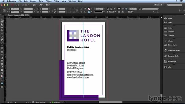 Solution: Design your own business card: Layout and Composition with InDesign