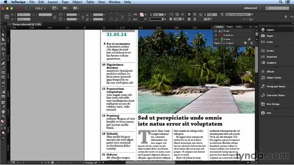 Finding more ways to use page rules: Layout and Composition with InDesign