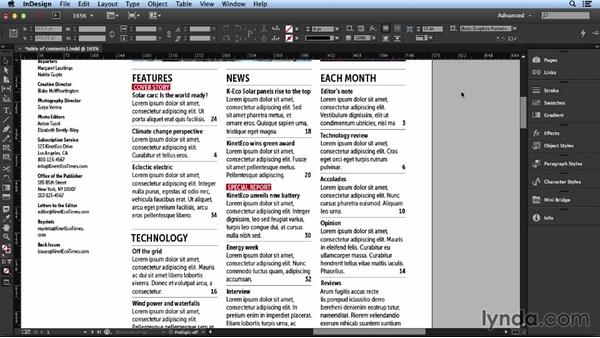 Establishing hierarchy: Layout and Composition with InDesign