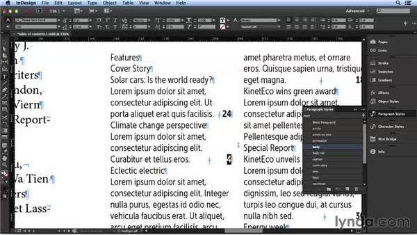 Balancing consistency and variation: Layout and Composition with InDesign