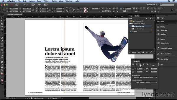 Working with text wraps: Layout and Composition with InDesign