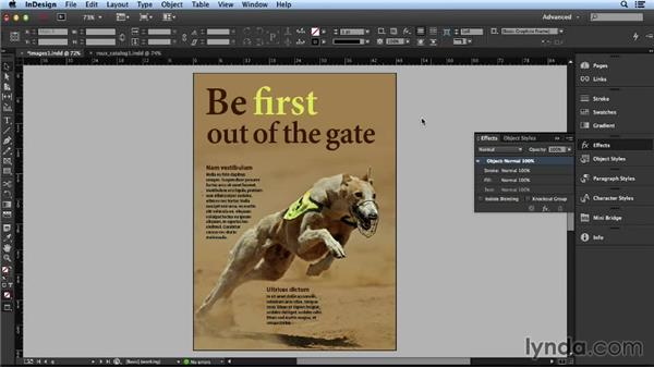 Using a slight text wrap for effective results: Layout and Composition with InDesign