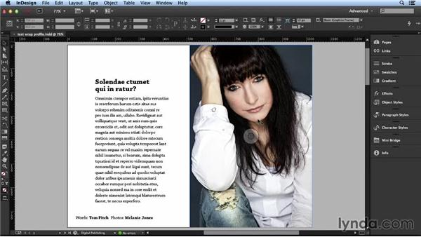 Using a text wrap to integrate layout elements: Layout and Composition with InDesign