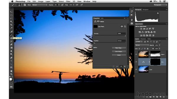 Adding adjustment layers: Enhancing a Sunset Photograph with Lightroom and Photoshop