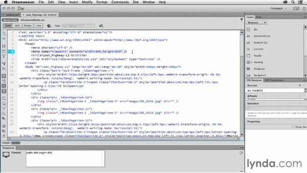 Examining the HTML: Creating a Fixed-Layout EPUB