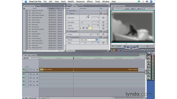 Combining filters: Final Cut Pro 5 Essential Effects