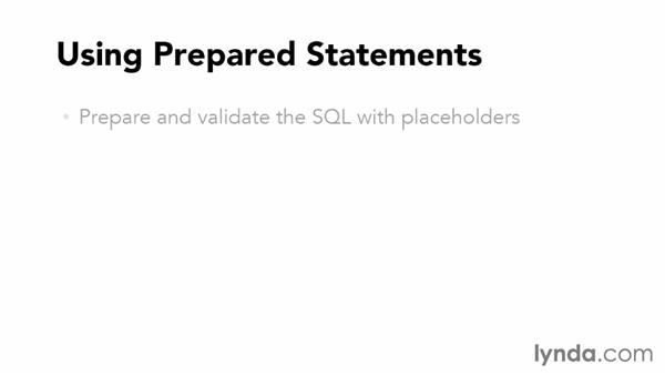 Using prepared statements: Accessing Databases with Object-Oriented PHP