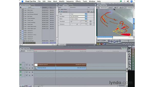 Luma keying: Final Cut Pro 5 Essential Effects