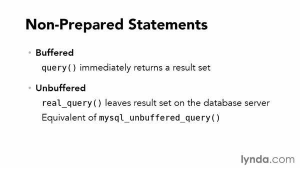 Buffered and unbuffered queries: Accessing Databases with Object-Oriented PHP