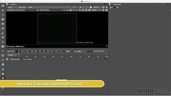 Using the exercise files: Nuke 8 New Features