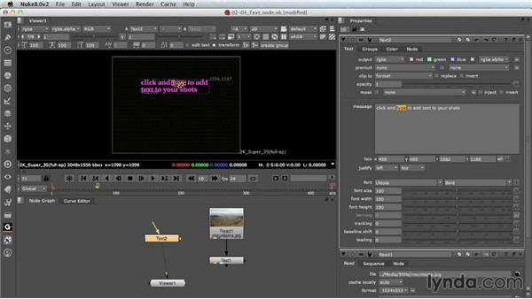 The new Text node: Nuke 8 New Features