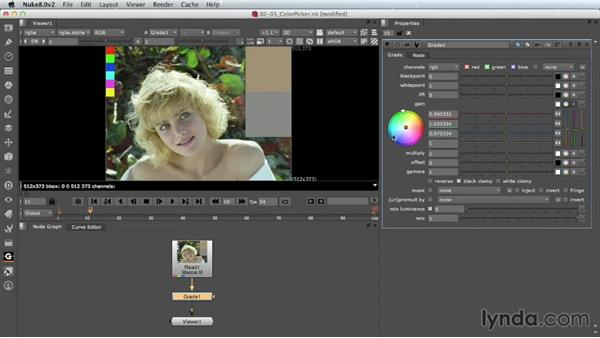 The in-panel color wheel: Nuke 8 New Features