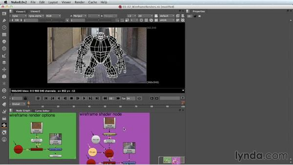 Rendering wireframe images: Nuke 8 New Features