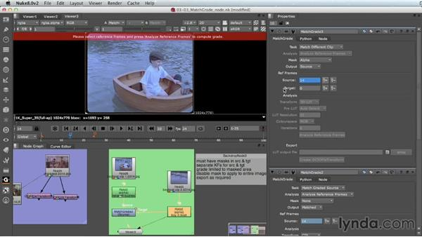 Using MatchGrade on different clips (Nuke X): Nuke 8 New Features