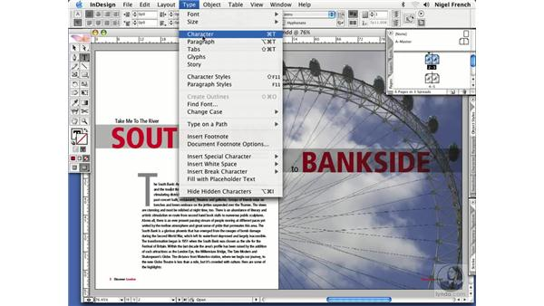 Where to find stuff: InDesign CS2 Professional Typography